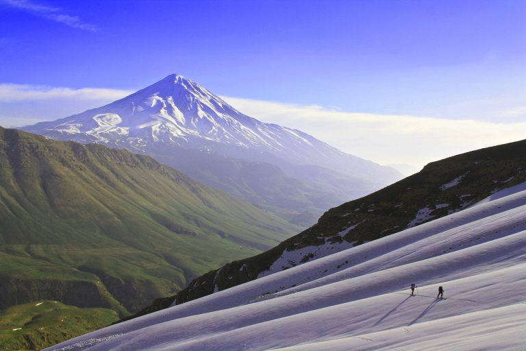 Skiing on Damavand